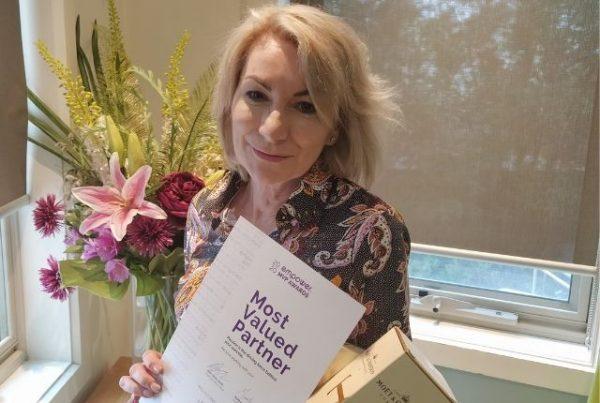Most Valued Partner Jan Winner - Megan Holmes