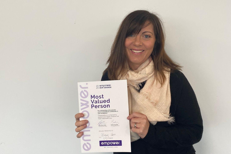 Most Valued Person Winner - Apr, Briony Watt