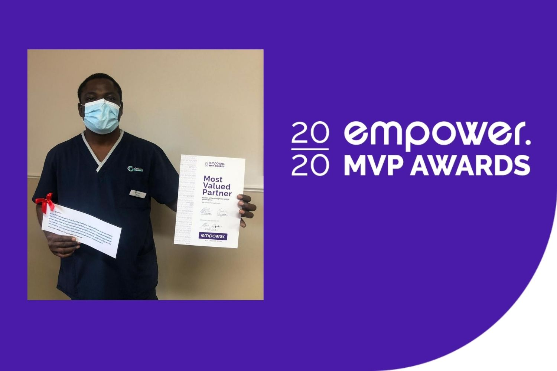 Most Valued Partner Aug Winner -Moses Odungele