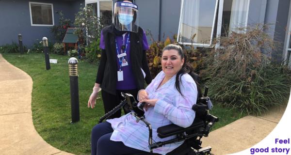 Paulene Bates successfully achieves fine motor skills to self-operate her wheelchair