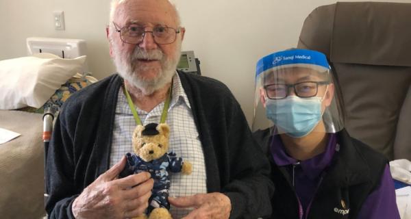 Ron Appleton receiving his 2020 Legacy Week bear