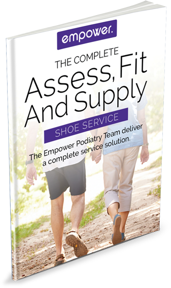 Podiatry assessment, fitting and supply flyer - home care, NDIS, aged care