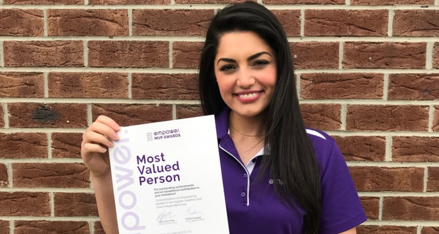 Most Valued Person Award Oct - Leah Pearson
