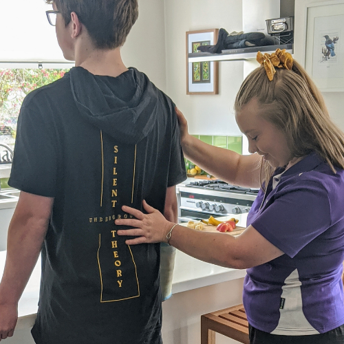 NDIS physiotherapy using stretching board